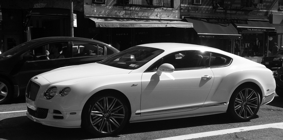 Black & White Bentley Coupe