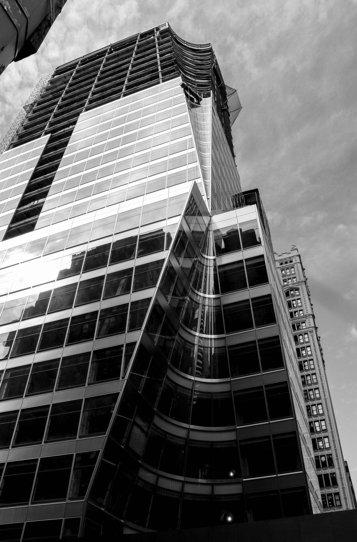 Black & White Portrait: NYC Buildings Architectural Design
