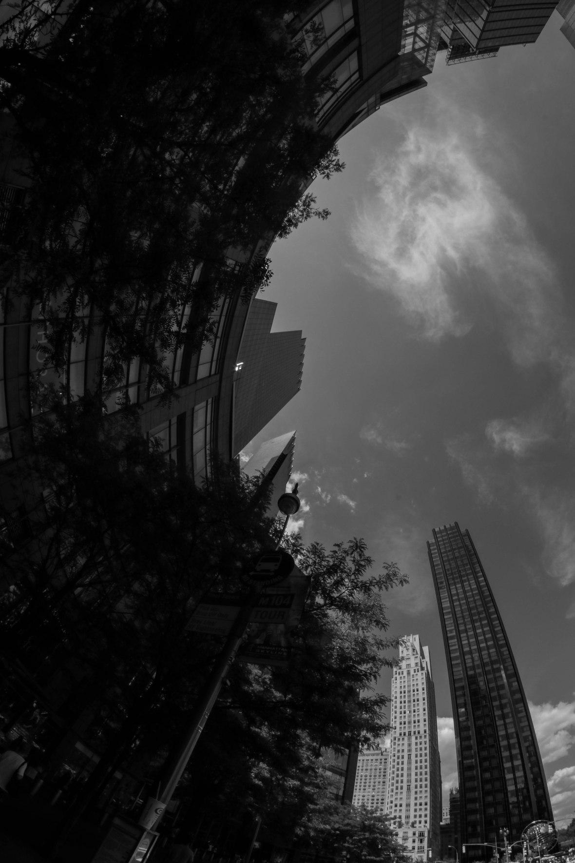Columbus Circle Vertical Black & White