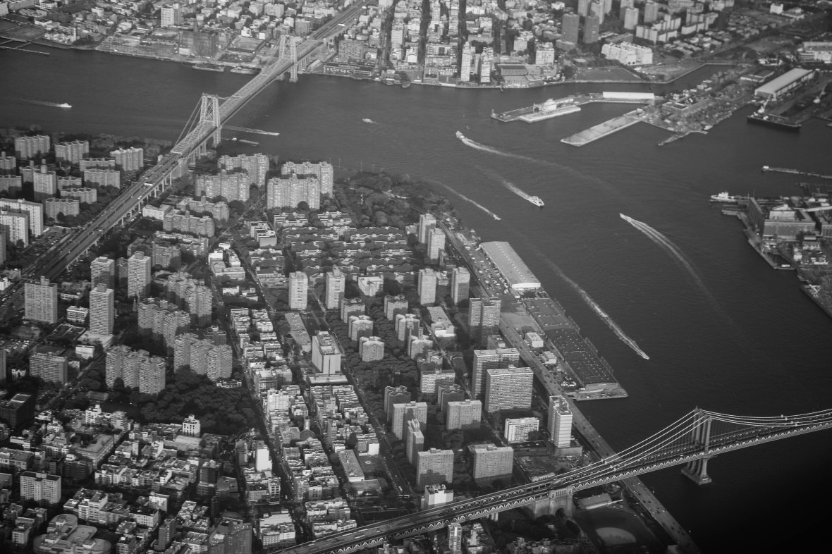 Above Gotham Bridges & Water Black & White