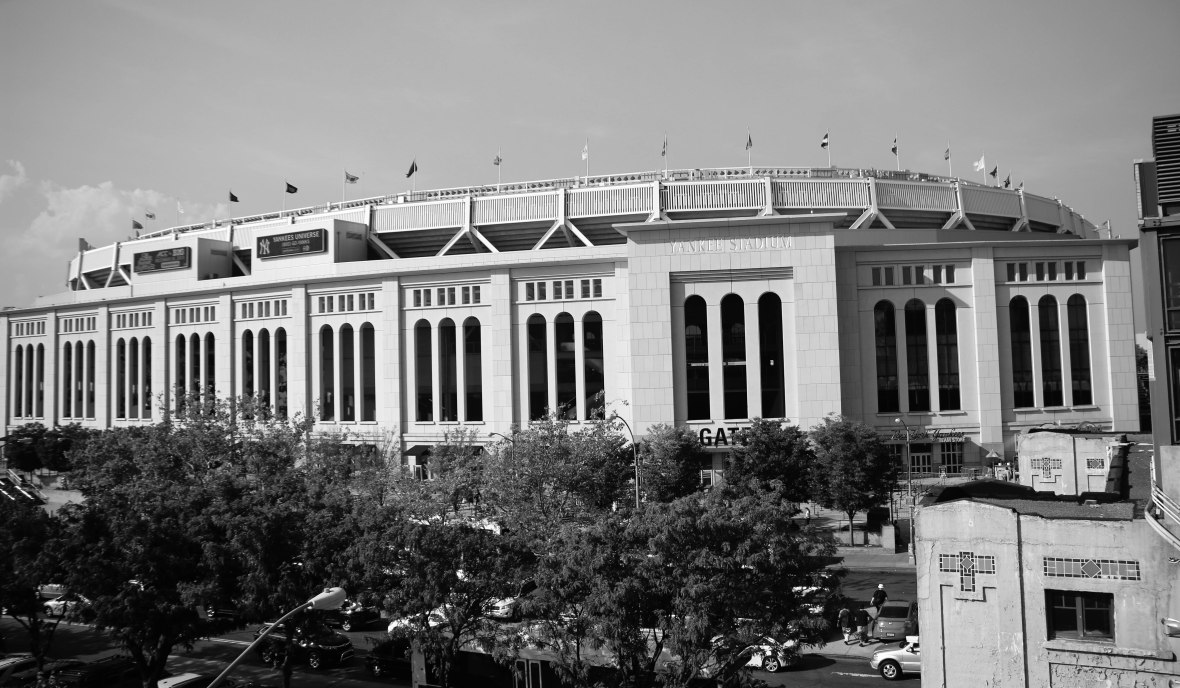 Yankee Stadium At A Distance Close Up
