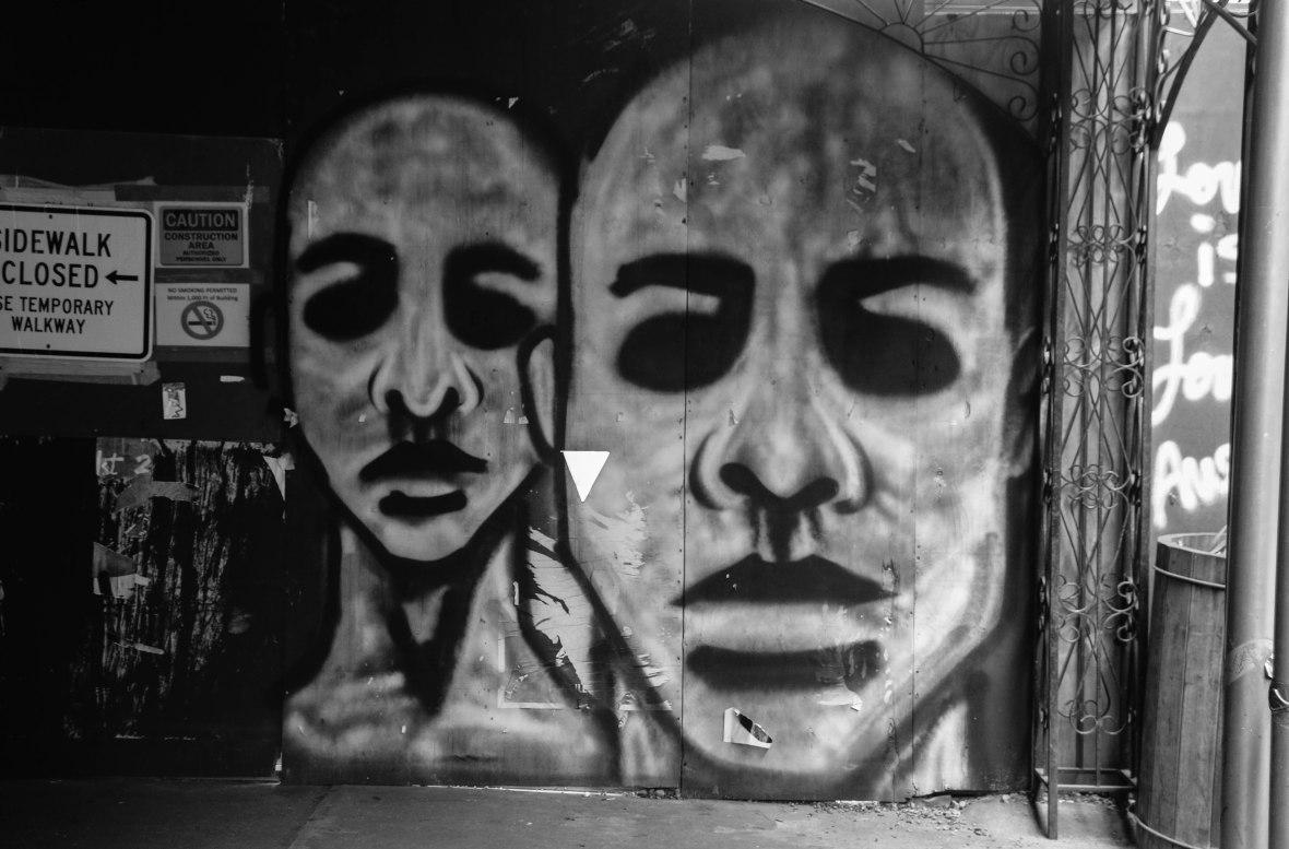 Faces Black & White Art Shot