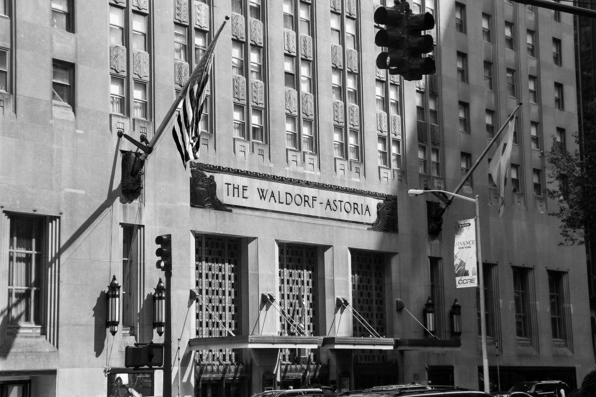 The Waldorf Astoria B + W