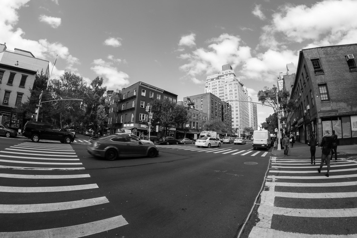 "NYC Landscape: A Sunday Scene ""Intersection"""