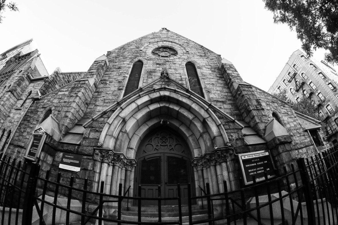Church Entrance B + W