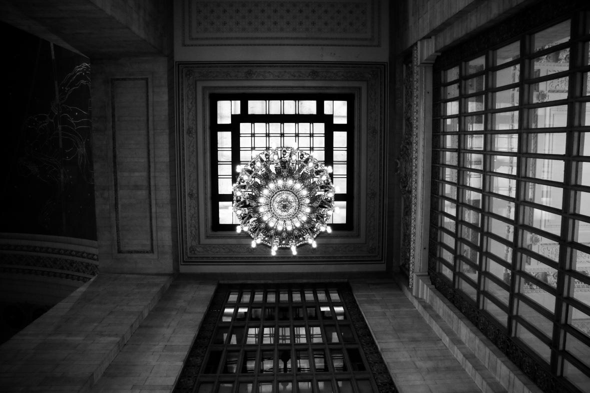 Grand Central Ceiling Chandelier B + W