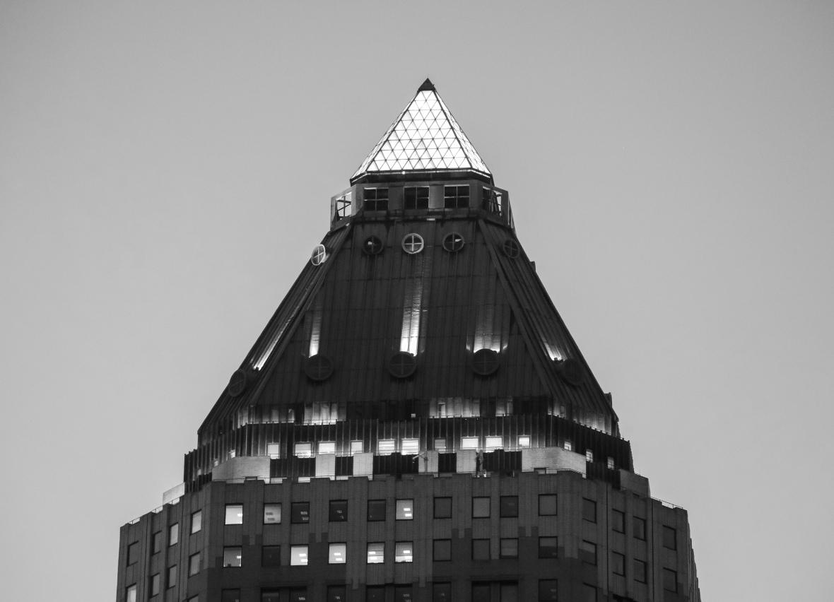 Pyramid Building B + W