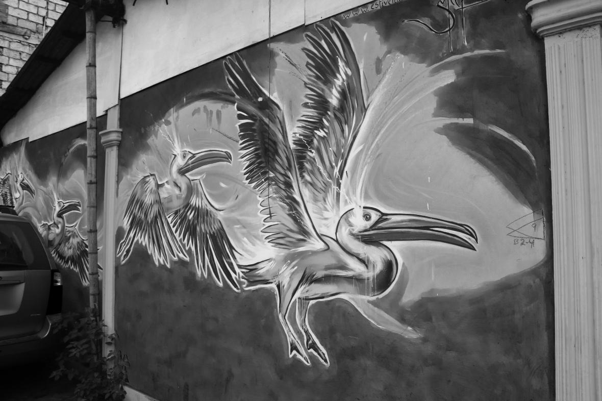 Black & White Mural 3