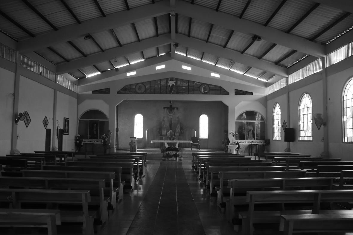 Church Interior B+W