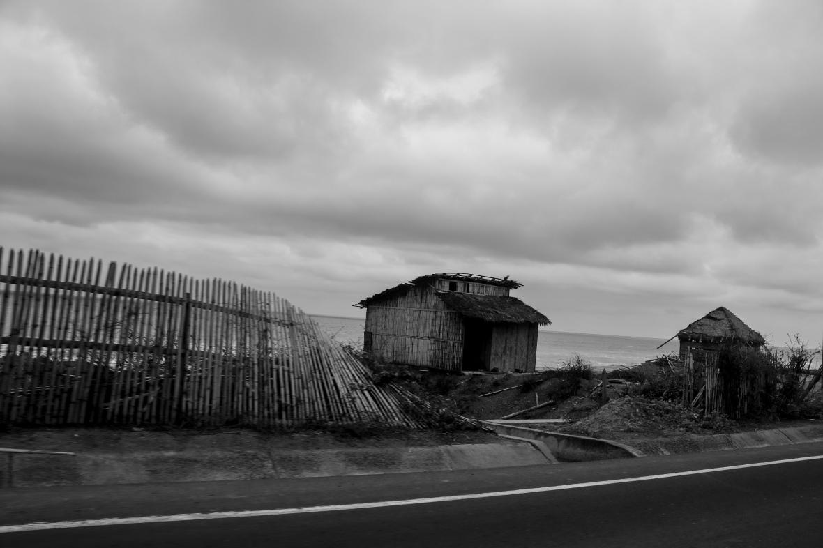 Road Way Building Ecuador B + W
