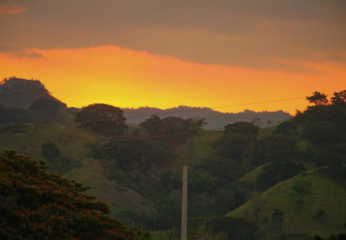 Landscape Portrait Series: Sunset Over Mountainside