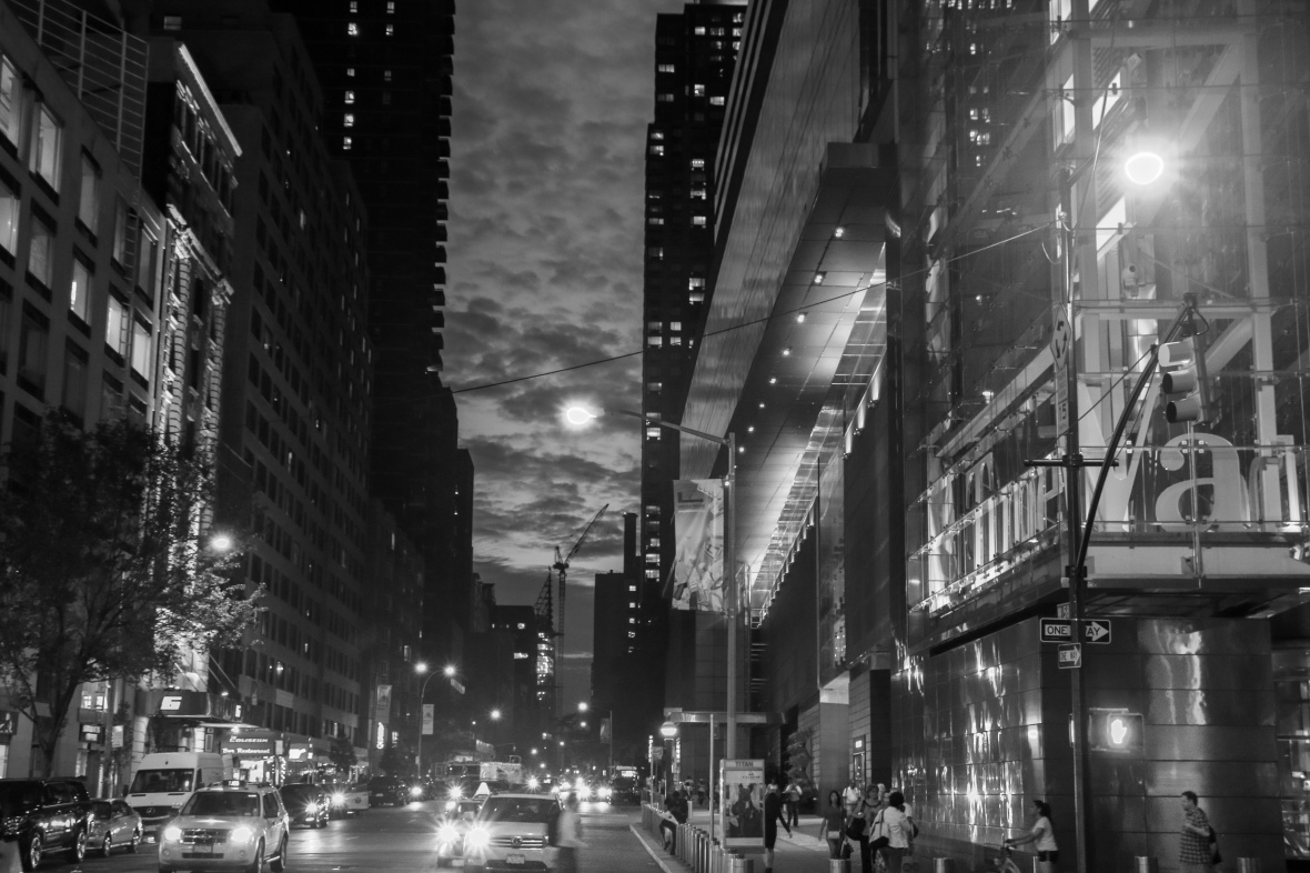 "Gotham Nights B + W ""Blue Evening"""