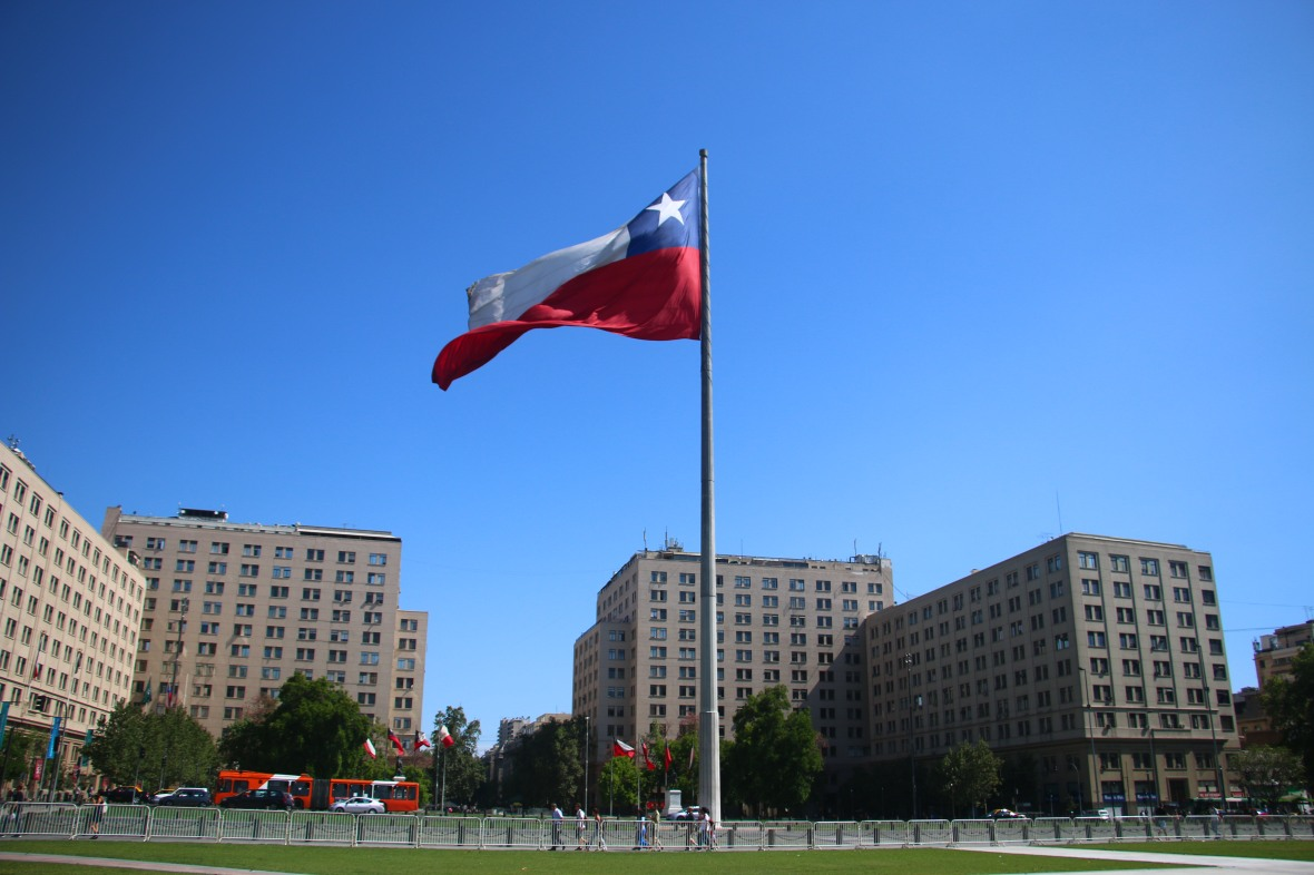 Chilean Flag Center Mass