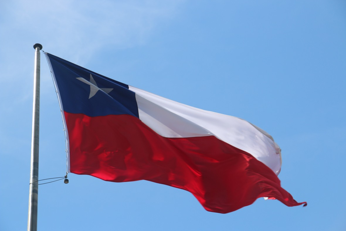 Chilean Flag Horizontal Closeup