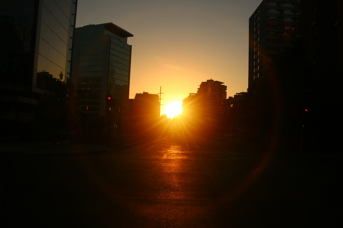 Santiago Golden Sunset