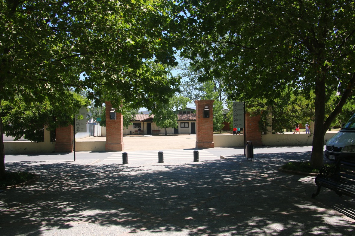 Entering the grounds