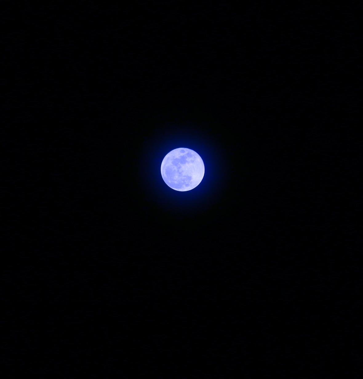 Portrait Series: Shooting The Moon: Blue Moon II