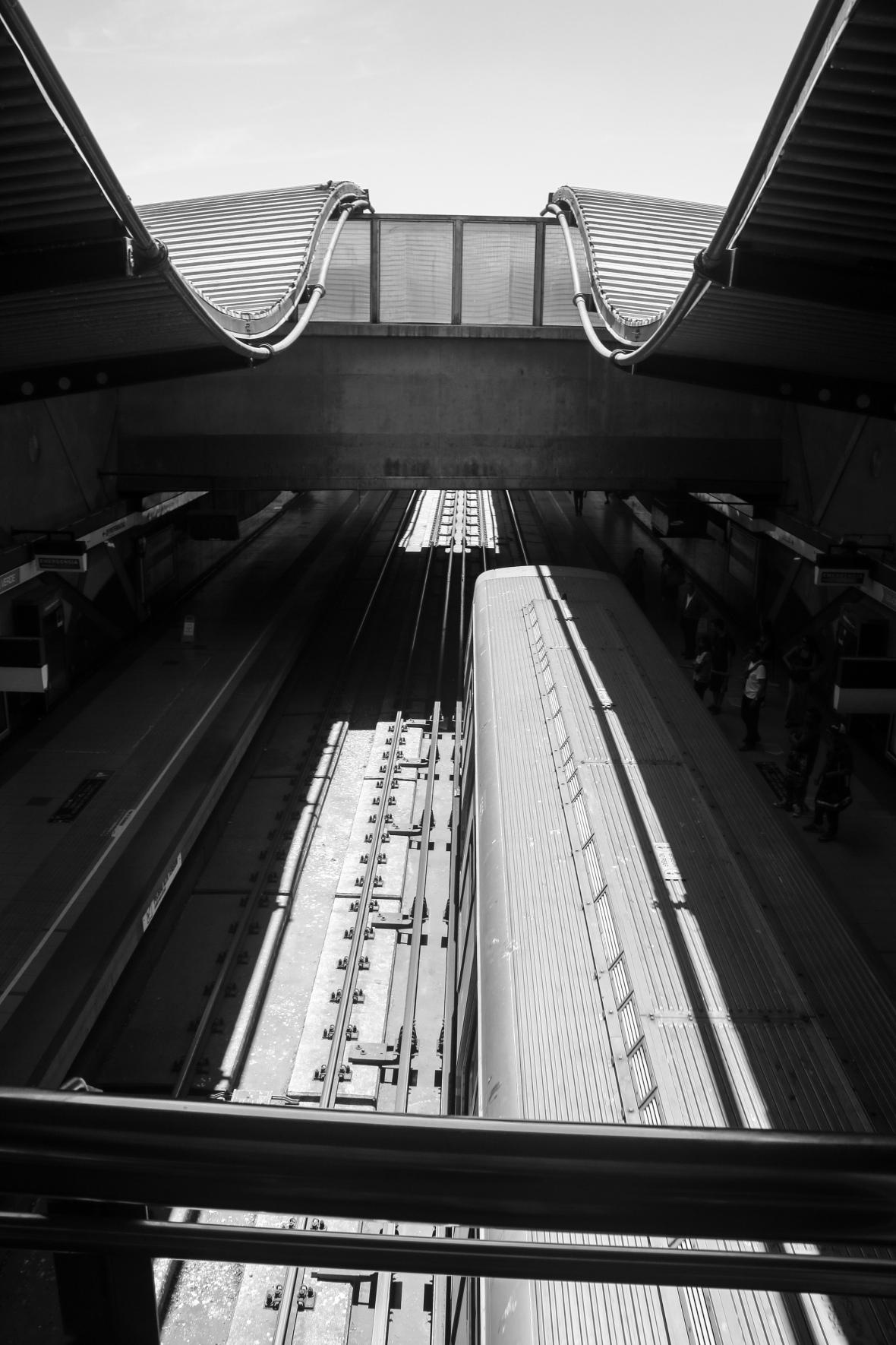 B + W Portrait Santiago's Subway II