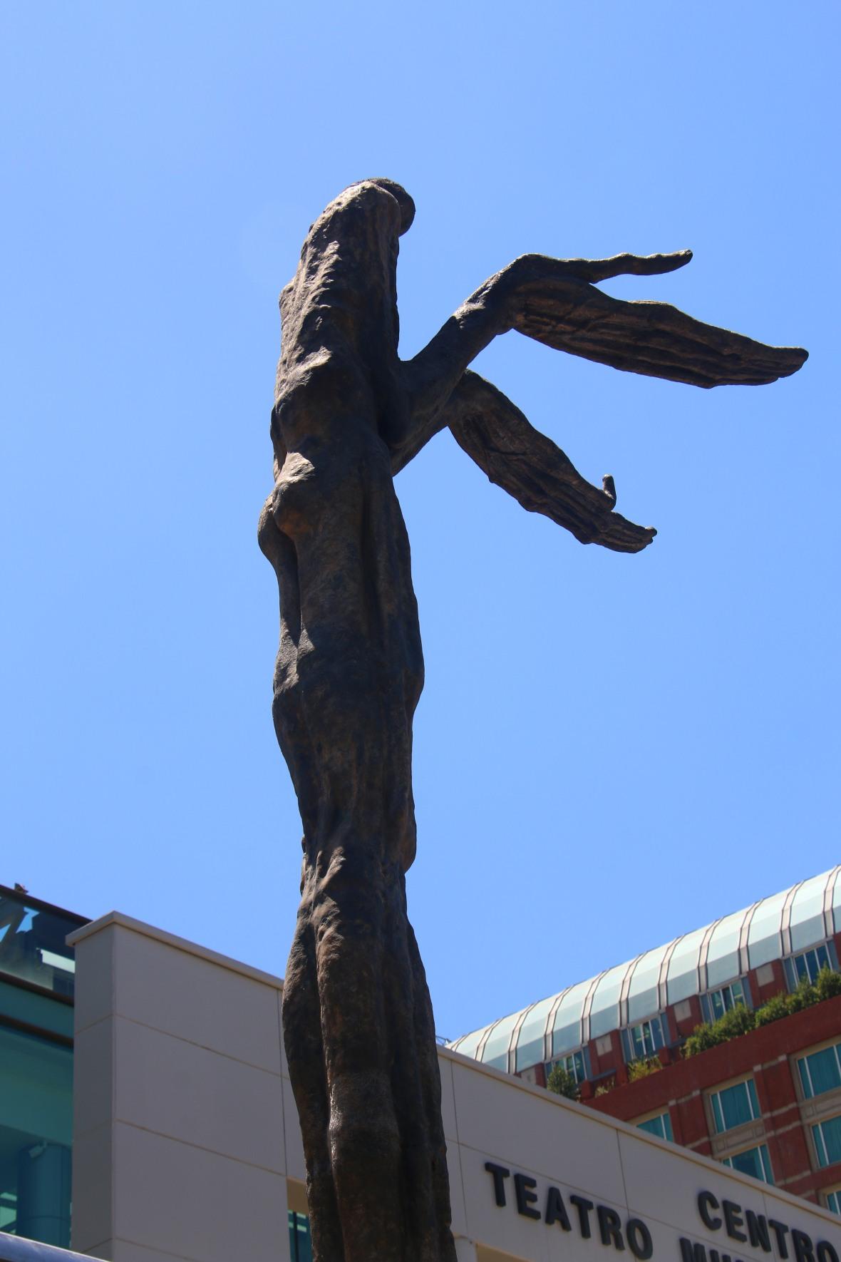 Public Art Display Santiago Open Hands
