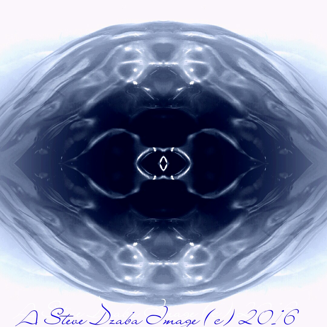 Abstract Portrait Series Liquid Portal: Deep Blue Dimension