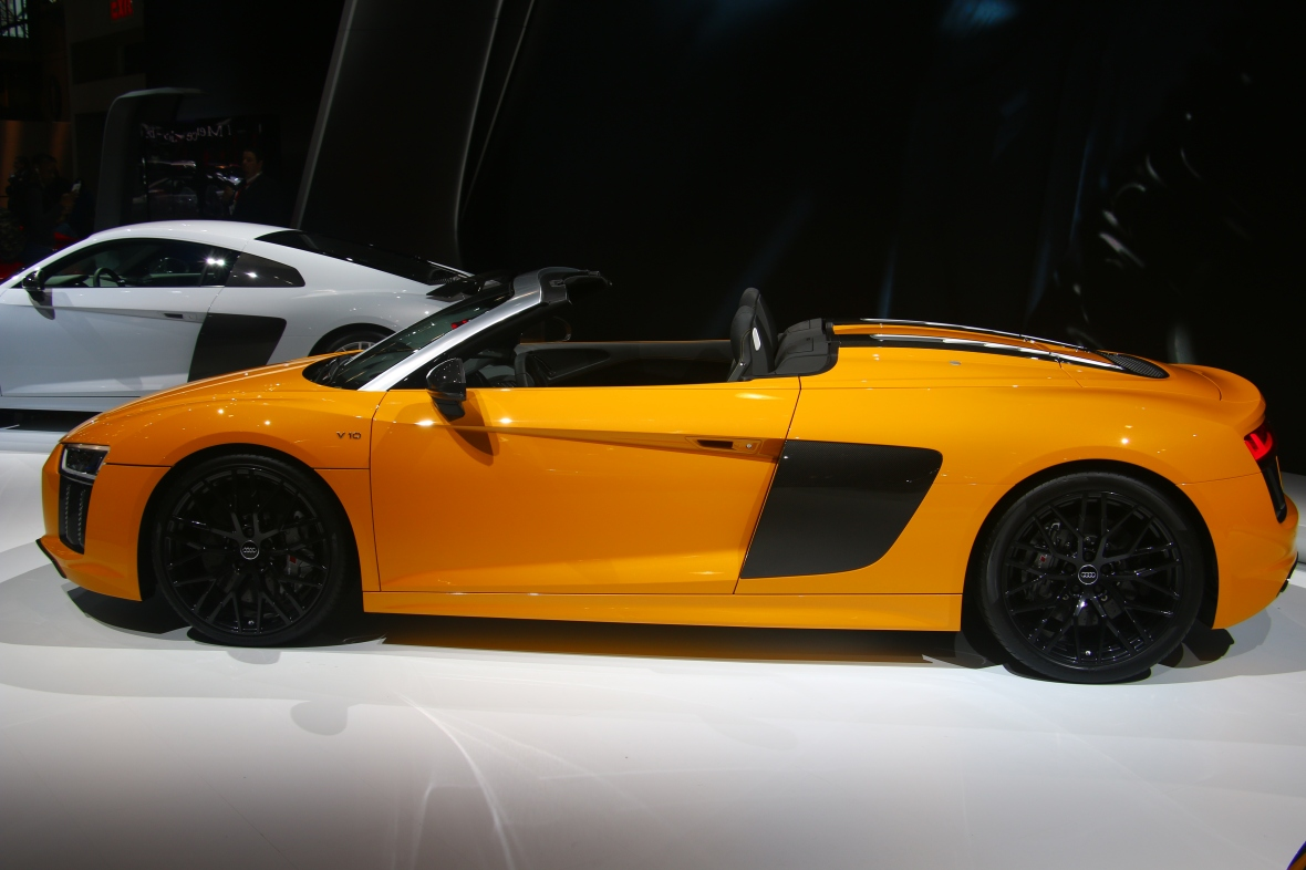 Yellow Audi Side Profile