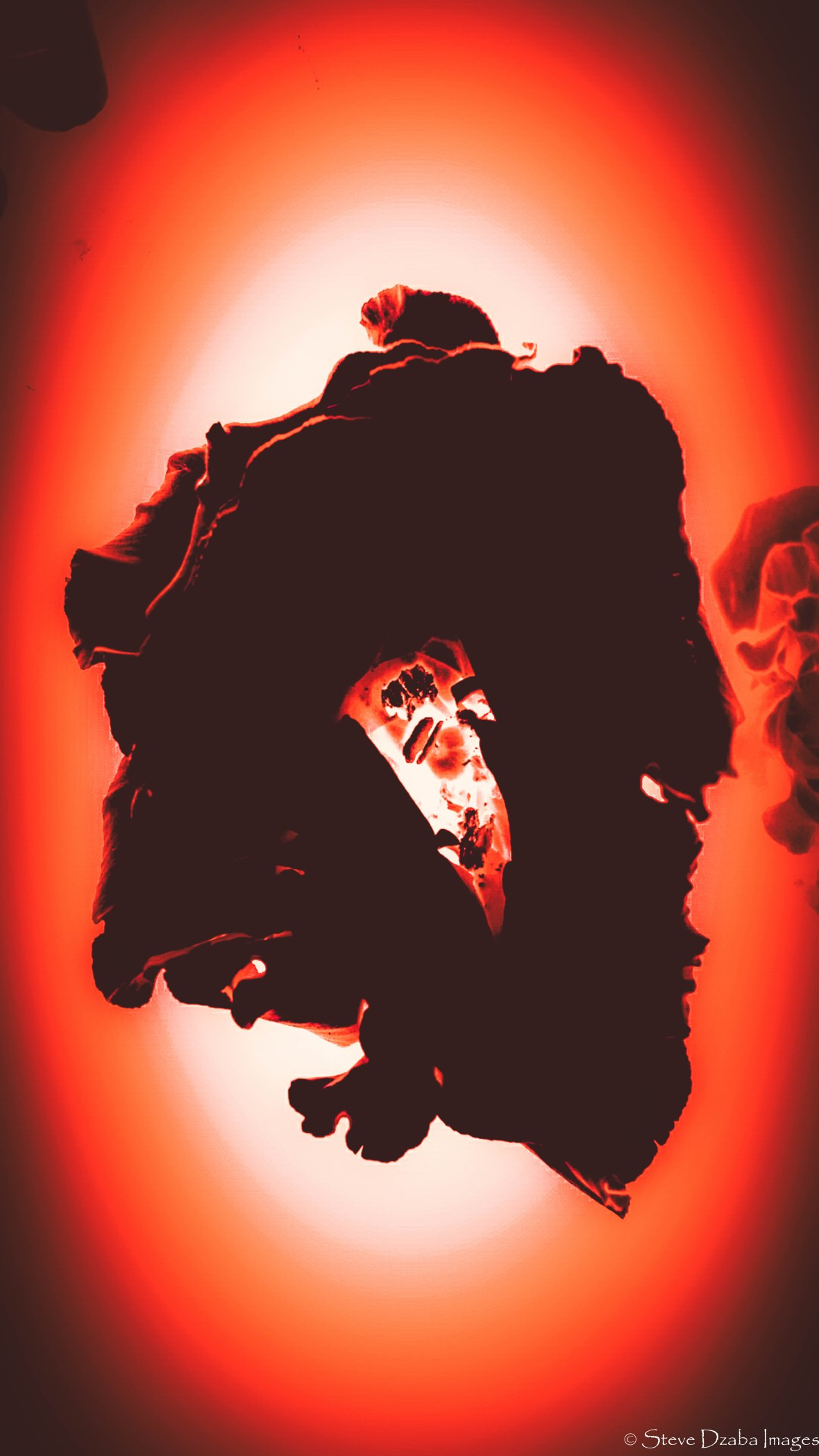 Abstract Portrait Series: Unbreakable Blood Orange Flame Vignette Limited Edition