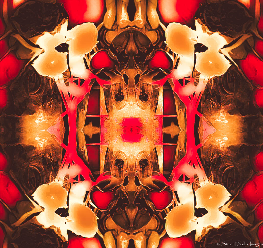 Abstract Portrait Series: The Lock (Gold N Red) Limited Edition