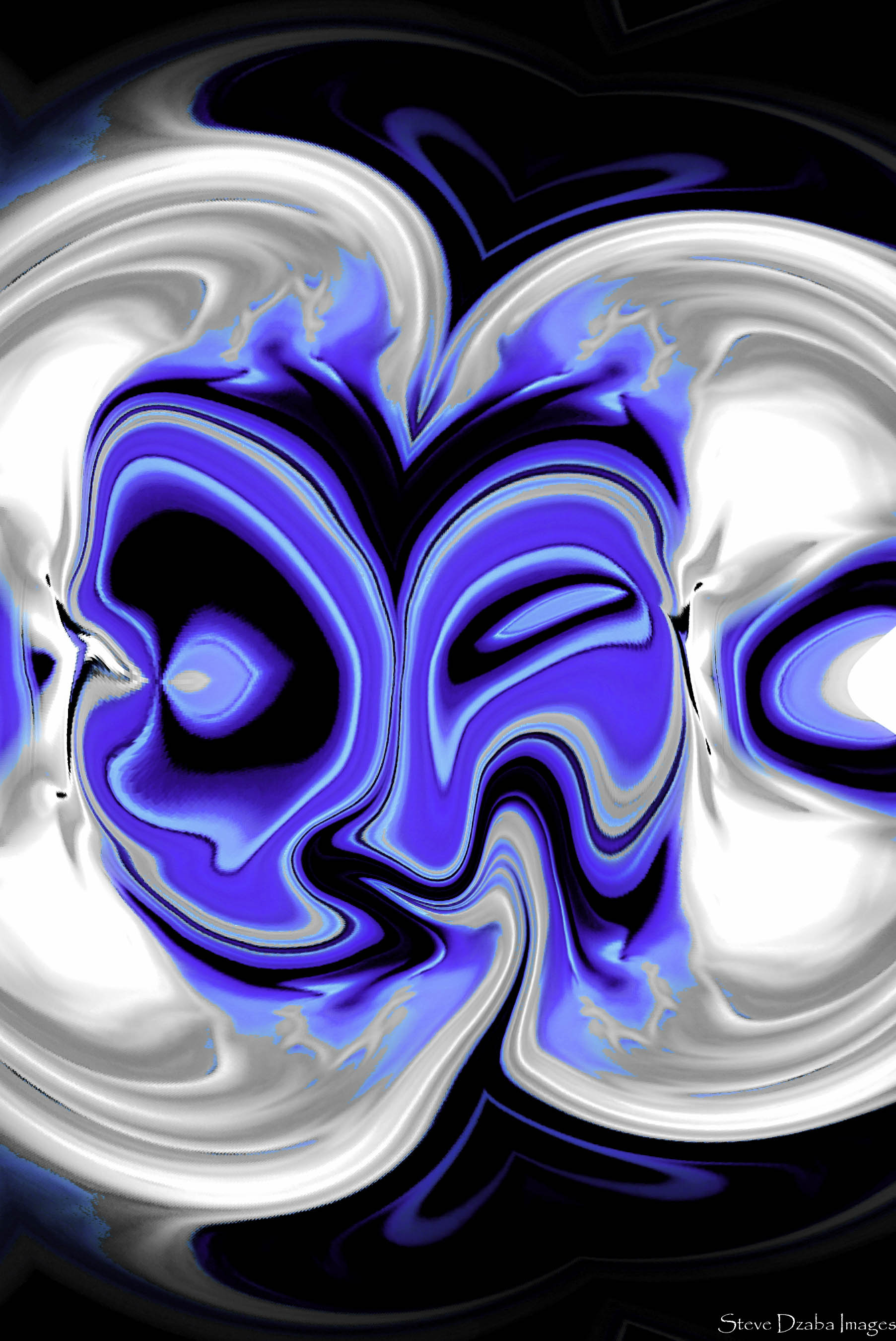 Abstract Portrait Series Crazy In Love Or Love Struck